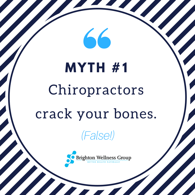 Myth #1 Chiropractors crack your bones - FALSE!
